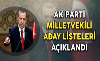 AK Parti Milletvekili Kesin Aday Listesi Belli Oldu
