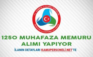 Gümrük Bakanlığı 1250 Muhafaza Memuru Alımı Yapıyor
