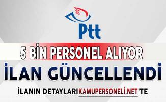 Güncellenmiş PTT 5 Bin Personel Alım İlanı DPB'de Yayımlandı