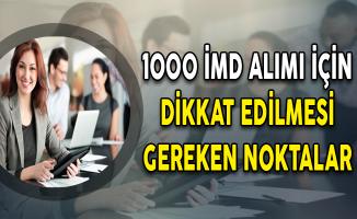 İŞKUR'a Kurum Dışı 1000 İMD Alımı İçin Dikkat Edilmesi Gereken Noktalar