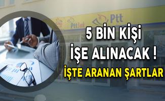 PTT KPSS Şartsız 5 Bin Personel Alım İlanına Başvuru Süreci Başladı