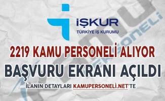 İŞKUR 2 Bin 219 Kamu Personeli Alımı Başvuru Ekranı Açıldı