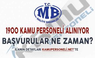 Maliye Bakanlığı 1900 Kamu Personeli Alımı Yapacak ! Başvurular Ne Zaman Başlayacak?