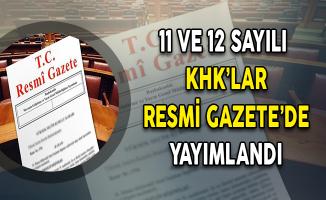 11 ve 12 Sayılı Cumhurbaşkanlığı KHK'sı Resmi Gazete'de Yayımlandı