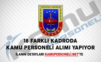 Jandarma Genel Komutanlığı 18 Farklı Kadroda Kamu Personeli Alımı Yapıyor
