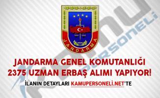 Jandarma Genel Komutanlığı 2375 Uzman Erbaş Alımı Yapıyor!
