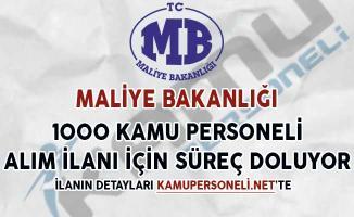 Maliye Bakanlığı 1000 Kamu Personeli Alımı Başvuruları Sona Eriyor