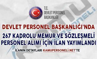 267 Kadrolu Memur ve Sözleşmeli Personel Alımı İçin DPB'de İlan Yayımlandı