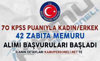 70 KPSS Puanıyla 42 Zabıta Memuru Alımı Başvuruları Başladı