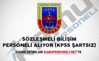 Jandarma Genel Komutanlığı Sözleşmeli Bilişim Personeli Alıyor (KPSS Şartsız)