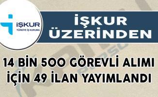 İŞKUR Üzerinden 14 Bin 500 Görevli Alımı İçin 49 İlan Yayımlandı!