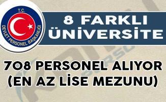 Üniversiteler 708 Personel Alıyor (En Az Lise Mezunu)