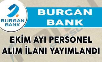 Burgan Bank Ekim Ayı Personel Alım İlanı Yayımlandı!