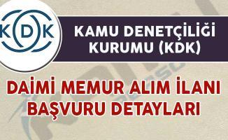 KDK Daimi Kadrolu Memur Alım İlanı Başvuru Detayları
