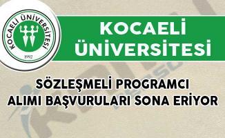 Kocaeli Üniversitesi Sözleşmeli Programcı Alımı Başvuruları Sona Eriyor!