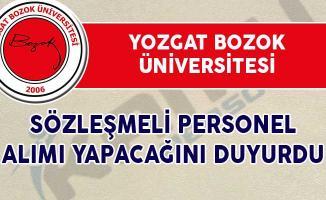 Yozgat Bozok Üniversitesi Personel Alım İlanı Yayımladı