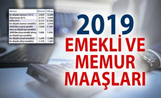 2019 Yılı Memur ve Emekli Maaşları Ne Kadar Olacak? Maaşlara Kaç TL Zam Yapılacak?