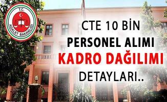 Adalet Bakanlığı CTE 10 Bin Kamu Personeli Alımı Kadro Dağılımı