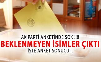 AK Parti'nin Anketinde Şok! Beklenmeyen İsimler Çıktı