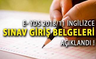 e- YDS 2018/11 İngilizce Sınav Giriş Belgeleri ÖSYM Tarafından Açıklandı!