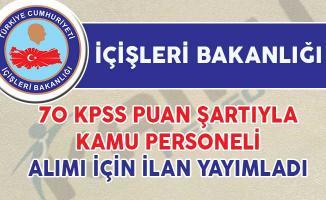 İçişleri Bakanlığı DPB'den Sözleşmeli Kamu Personeli Alım İlanı Yayımladı