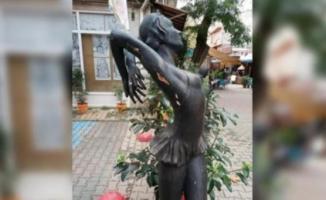 İnsanoğlu böyle bir sapıklık görmedi- Balerin heykelini...