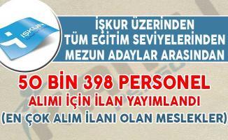 İŞKUR Aracılığıyla 50 Bin 398 Personel Alımı İçin İlan Yayımlandı (En Çok Alım İlanı Olan Meslekler)