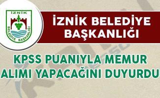 İznik Belediye Başkanlığı Memur Alım İlanı Yayımladı