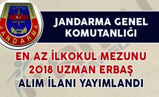Jandarma Genel Komutanlığı Uzman Erbaş Alım İlanı Yayımlandı (En Az İlkokul Mezunu)