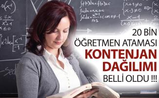 MEB 20 Bin Öğretmen Ataması Kontenjan Dağılımı Belli Oldu!