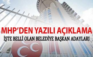 MHP'de 2019 Yerel Seçimleri İçin Kesinleşen Belediye Başkan Adayları Açıklandı