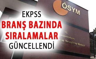 ÖSYM Duyurdu: EKPSS Branş Bazında Sıralamalar Güncellendi