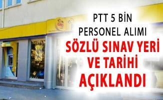 PTT 2018/1 5 Bin Personel Alımı Sözlü Sınav Yeri ve Tarihi Açıklandı