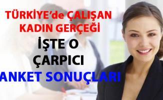 Türkiye'de çalışan kadın gerçeği- anket sonuçları