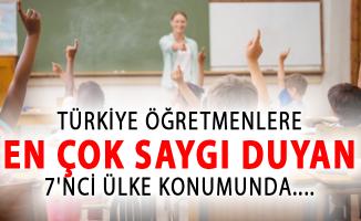 Türkiye, Öğretmenlere En Çok Saygı Duyan 7'nci Ülke Konumunda
