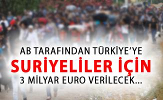 Türkiye'ye, Suriyelilerin Barınmasında Kullanması İçin 3 Milyar Euro Verileceği Tartışılıyor!