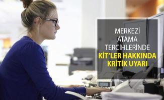 2018/2 KPSS Merkezi Atama Tercihlerinde KİT'ler Hakkında Kritik Hatırlatma!