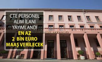 Adalet Bakanlığı CTE En Az 2 Bin Euro Maaşla Yurtdışı Yerleşkelerine Personel Alımı Yapıyor!