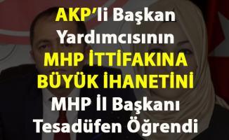 AKP'li Başkan Yardımcısının MHP ittifakına ihaneti tesadüfen öğrenildi