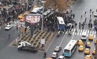 Ankara Kızılay'da Belediye otobüsü dehşeti- Çok sayıda yaralı var