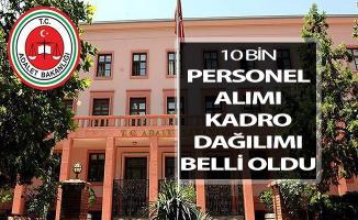 Bakan Gül Adalet Bakanlığı 10 Bin Personel Alımı Kadro Dağılımını Açıkladı