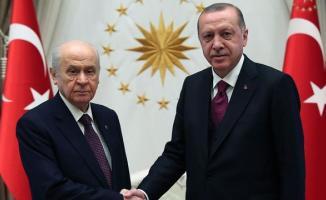 Cumhurbaşkanı Erdoğan İle MHP Lideri Bahçeli Görüşmesi Sona Erdi