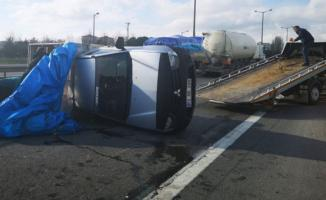 İstanbul TEM otoyolu Kurtköy mevkiinde kaza- Trafik kilit