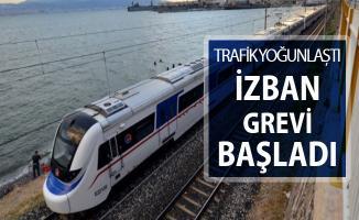 İZBAN Grevi Başladı ! İzmir'de Trafik Yoğunluğu Oluştu