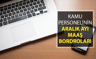 Kamu Personelinin Aralık Ayı Maaş Bordroları Yayımlandı ! e-Bordro Sorgulama Ekranı