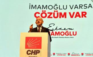 Kemal Kılıçdaroğlu, Haliç Kongre Mekezinde CHP İBB adayı EKREM İMAMOĞLU'nu tanıttı