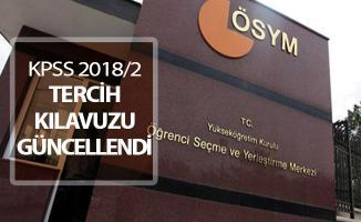 KPSS 2018/2 Merkezi Atama Tercih Kılavuzu ÖSYM Tarafından Güncellendi