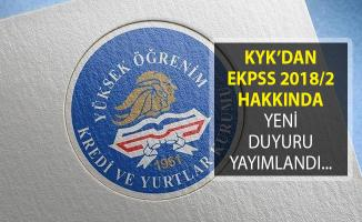 KYK EKPSS 2018/2 İle Atananlardan Talep Edilen Evrakları Açıkladı!