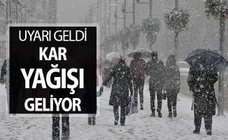 Meteoroloji'den İstanbullulara Kar Yağışı Uyarısı ! İllere Göre Hava Durumu Tahmini