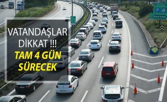 Vatandaşlar Dikkat! Tüm Türkiye'de Başlatıldı Tam 4 Gün Sürecek!